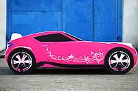 Кровать-машина для девочки Nissan розового цвета Спальное место 170*80 см, фото 2