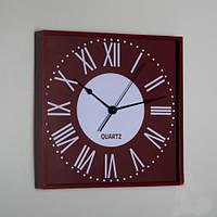 Часы настенные (28х28х4 см), цвет коричневый