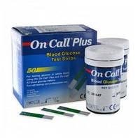 Тест-полоски On Call® Plus 50 шт. (2x25 шт.) USA