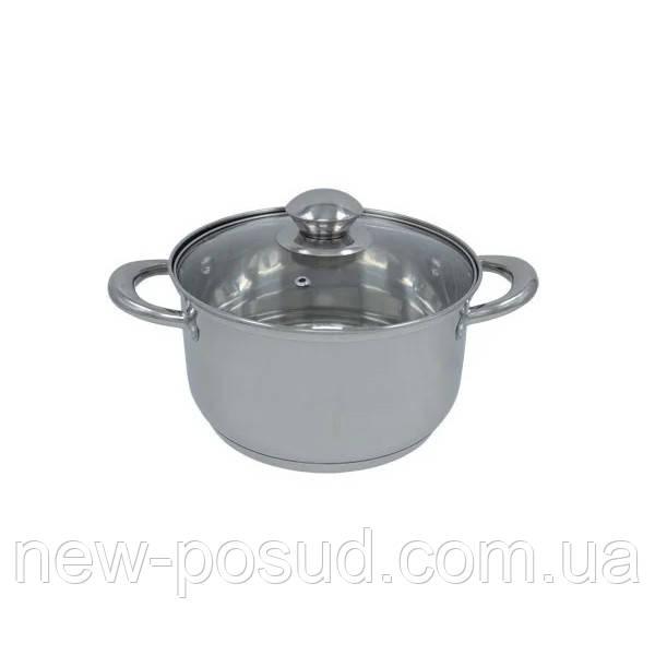 Каструля з нержавіючої сталі з кришкою - 2.8 л. Bohmann BH 0805-18