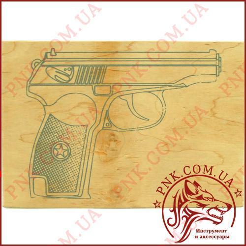"""Дощечка для випалювання """"Пістолет"""" А5, фанера для випалювання"""
