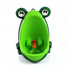 Детский тренировочный писсуар-горшок PottyFrog для мальчиков в виде Жабки Зеленый (PF-01)