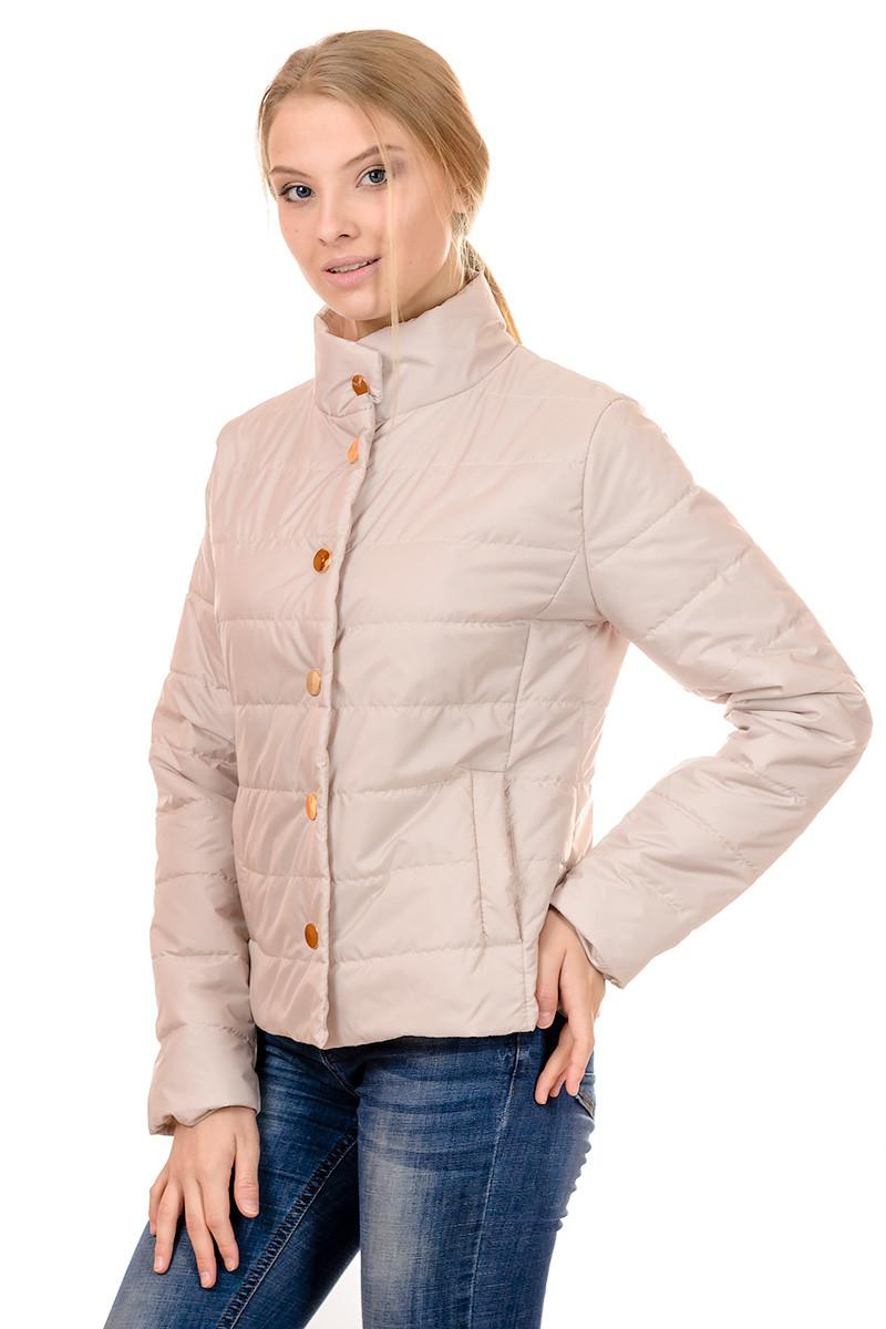 Женская демисезонная куртка IRVIC FK160 42 Бежевый (IrC-FK160-42)