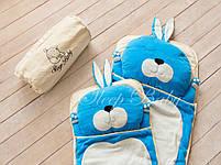 Детский комплект постельного белья Слипик Зайка голубой, фото 2