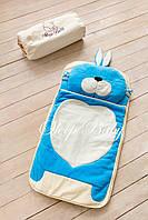 Детский комплект постельного белья Слипик Зайка голубой, фото 3