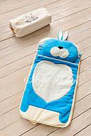 Детский комплект постельного белья Слипик Зайка голубой, фото 4