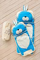 Детский комплект постельного белья Слипик Зайка голубой, фото 5