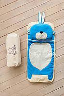 Детский комплект постельного белья Слипик Зайка голубой, фото 6
