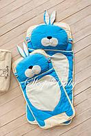 Детский комплект постельного белья Слипик Зайка голубой, фото 7