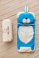 Детский комплект постельного белья Слипик Зайка голубой, фото 8