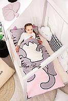 Дитячий комплект постільної білизни Слипик з разьемной блискавкою Киця, фото 2