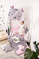 Дитячий комплект постільної білизни Слипик з разьемной блискавкою Киця, фото 7