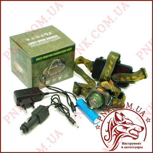 Акумуляторний налобний ліхтар BL-6616