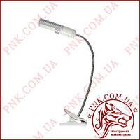 Светодиодная лампа на гибкой ножке с клипсой для крепления, SS-803