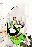 Десткий комплект постельного белья Слипик с разьемной молнией Сова, фото 8