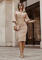 Стильное Женское платье гольф Ткань трикотаж рубчик. Размеры: 42-44, 44-46, 46-48