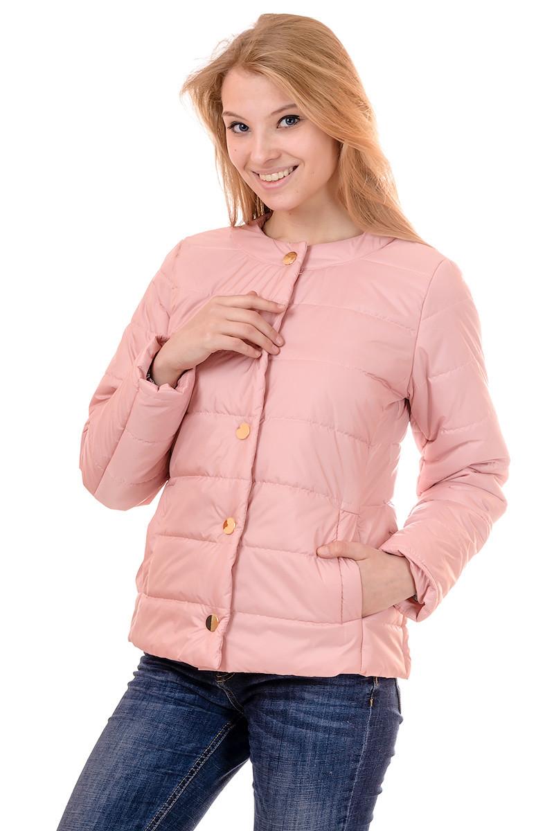Женская демисезонная куртка IRVIC 46 Розовый (IrC-FK133-46)