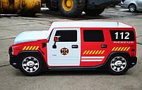 Дитяче ліжко пожежна машина Hummer H2 Спальне місце 170*80 см, фото 2