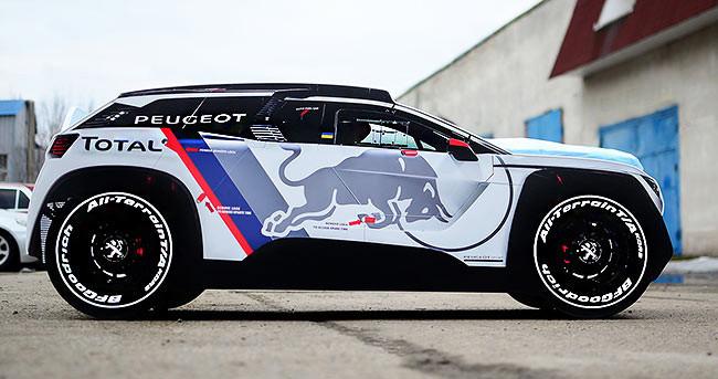 Дитяче ліжко машина Peugeot 3008 Dakar Спальне місце 170*80 см