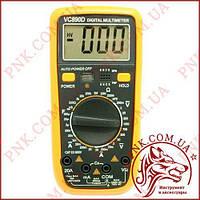 Мультиметр цифровой универсальный Digital VC-890D, автовыключение, защита, прозвонка