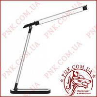 Лампа LED світильник настільний 9W сенсор, диммер, рівні яскравості TL-07S срібло-золото