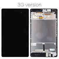 Дисплей (экран) для планшета Asus ME571K Nexus 7 2013, версия 3G с сенсором (тачскрином)и рамкой черный Оригинал