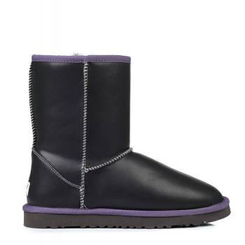 Мужские сапоги UGG Classic Short Leather M размер 44 Серые (Ua_drop_117083-44)