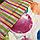 Двуспальное постельное белье 180х220 с простыней на резинке (15093) цветной сатин хлопок 100%, фото 6