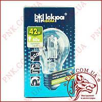 Лампочка ISKRA 42W E27 ECO энергосберегающая, галогенная