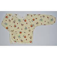 Распашонка для новорожденных нецарапка (футер) желтый
