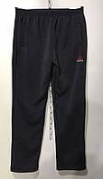 Мужские спортивные штаны прямые на флисе 46-52 норма темно-серый