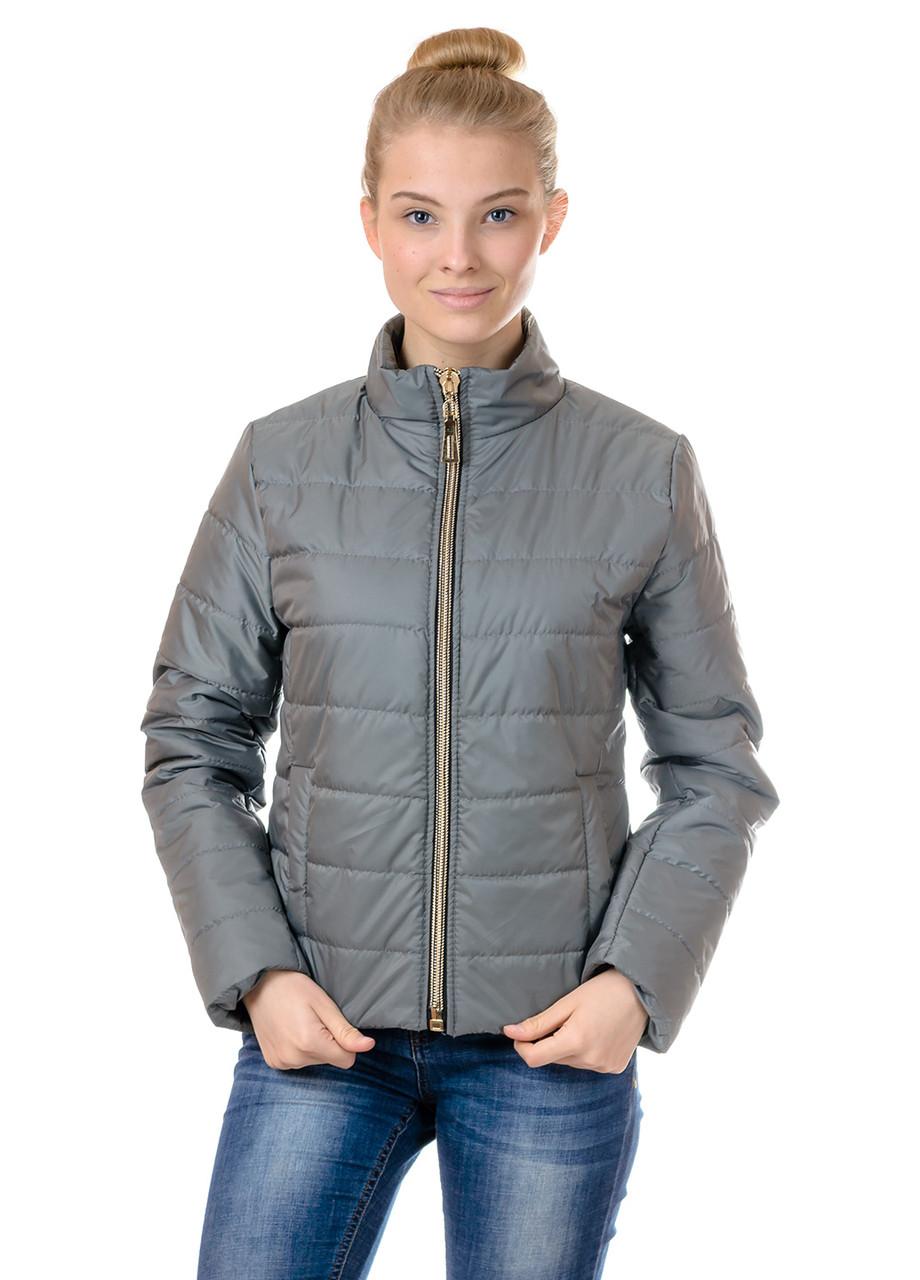 Женская демисезонная куртка IRVIC 44 Оливковый (IrC-FZ155-44)