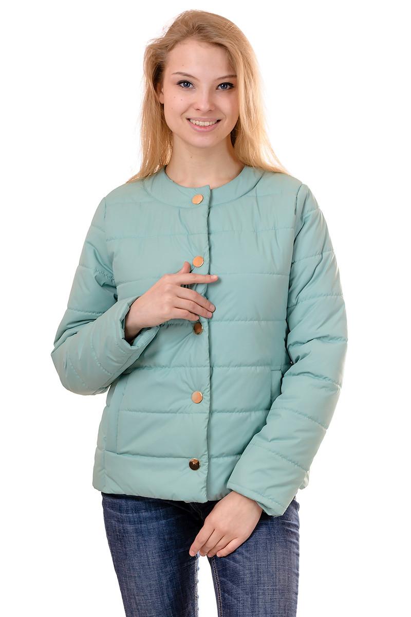 Женская демисезонная куртка IRVIC 44 Мятный (IrC-FK136-44)