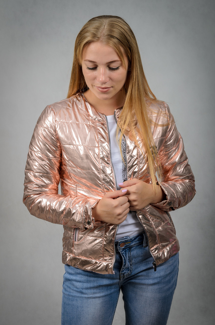 Женская демисезонная куртка VIK 44 Бронзовый (V6120244)