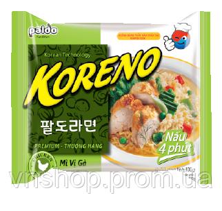 Корейская Лапша Koreno Paldo со вкусом курицы (100 гр)