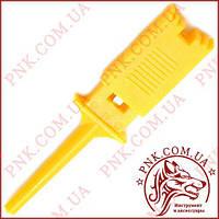 Зажим (щуп) тип крючок прямоугольный, жёлтый (12-2984Y)