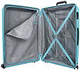Чемодан пластиковый Travelite Nubis голубой 70 л, фото 5