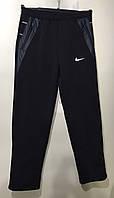 Чоловічі спортивні штани прямі на флісі 46-54 норма темно-синій