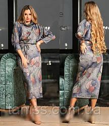 Женское теплое платье силуэта - летучая мышь, большого размера, ткань ангора-софт, р. 46,48,50,52,54 сукня
