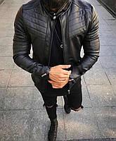 Мужская стильная кожаная курточка (эко кожа) косуха/ Турецкое качество.