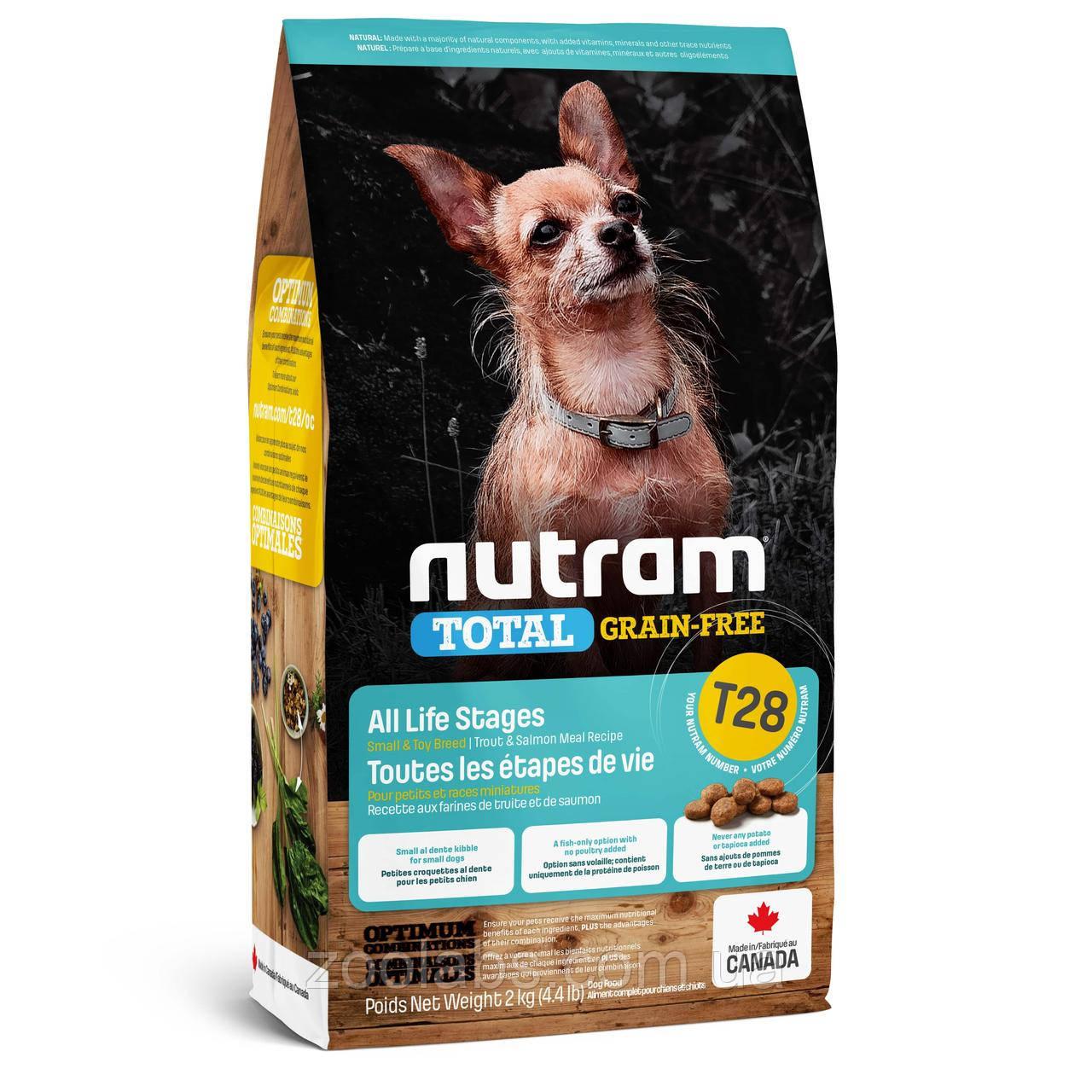 Корм Nutram для собак мелких пород лосось и форель | Nutram T28 Total Grain Free Salmon&Trout Small Breed 2 кг