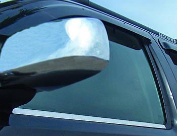 Nissan Navara 2006-2015 гг. Наружняя окантовка стекол (4 шт, нерж.) OmsaLine - Итальянская нержавейка
