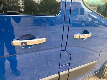 Opel Movano 2010↗ гг. Накладки на ручки (4 шт) 1 отверстие, Carmos - ABS-пластик