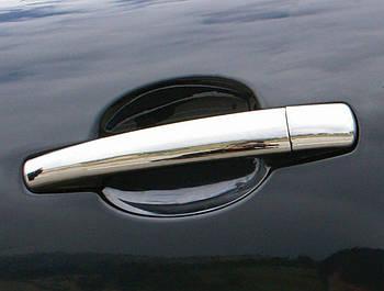 Peugeot 308 2007-2013 гг. Накладки на ручки (4 шт, нерж) 2 шт, OmsaLine - Итальянская нержавейка