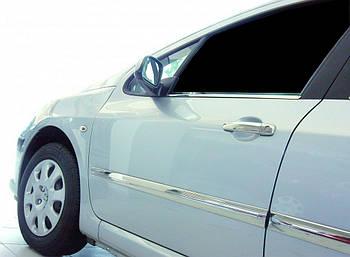 Peugeot 308 2007-2013 гг. Молдинг дверной (4 шт, нерж)