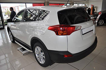 Toyota Rav 4 2013-2018 гг. Боковые пороги Fullmond (2 шт, алюм)