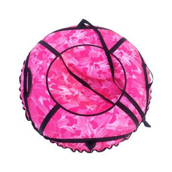 Тюбинг (Надувные Санки-Ватрушка) D-100 Розовая Клякса