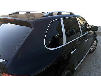 Porsche Cayenne 2003-2010 гг. Рейлинги Skyport (серые)