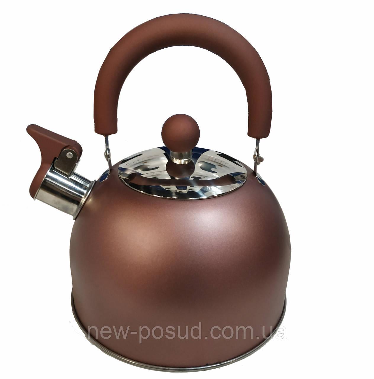 Чайник со свистком из нержавеющей стали 2 л. Benson BN-718
