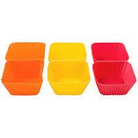 Набор форм для выпечки кексов 6 шт 6.5x6.5x3см Krauff 26-184-032